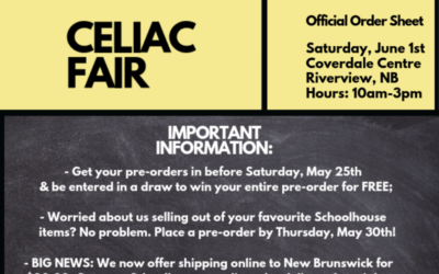 Celiac Fair in New Brunswick: We're coming to you on June 1st!