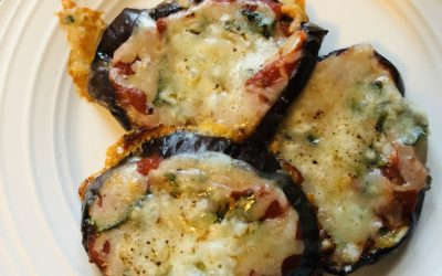 Mini Eggplant Pizzas